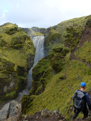 We followed a trail of waterfalls for a while.