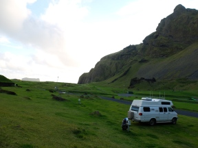 The campground is in an ancient crater-